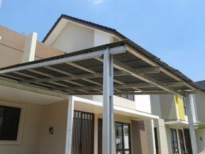 Rumah Sederhana Atap Seng kanopi rumah minimalis pelindung rumah tampil cantik