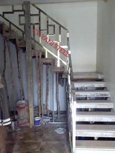 reling tangga stainles